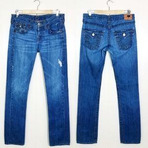 True Religion Jordan Straight Boyfriend Jeans